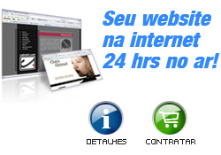 Seu website na internet 24 horas no ar!